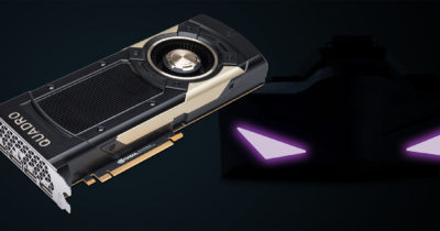 NVIDIA Quadro graphics card with VRgineers VR headset