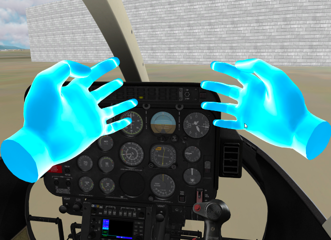 Flight Simulation in VR with hand tracking